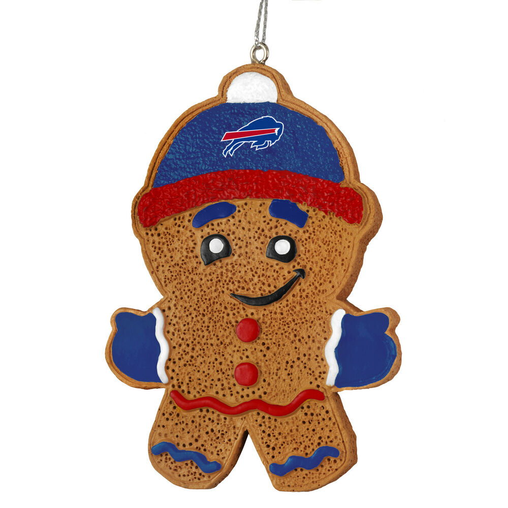 Buffalo Bills Gingerbread Man Christmas Tree Ornament New