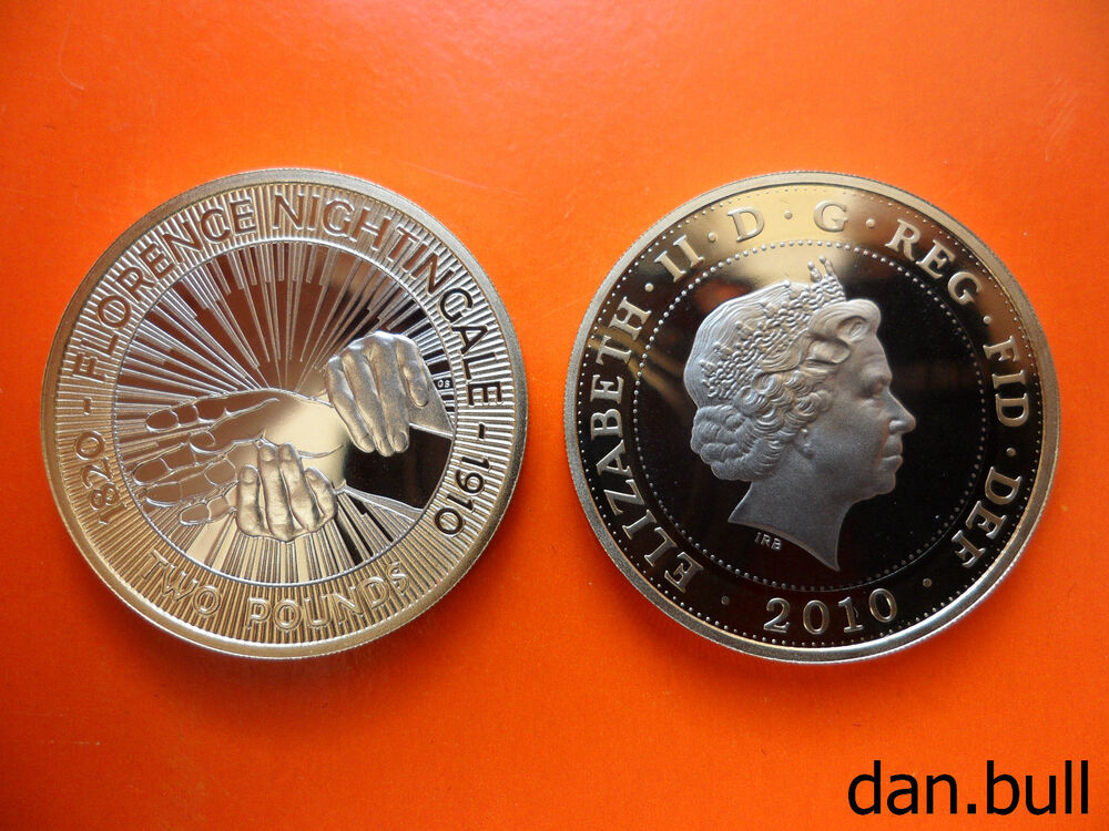 2010 florence nightingale proof 2 coin 2 pound ebay for Coin firenze