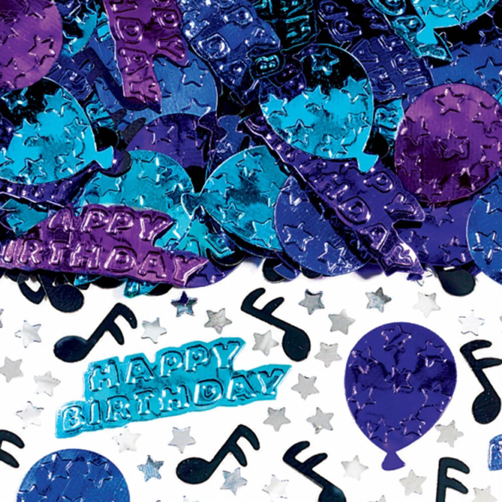 4 bags happy birthday blues music party embossed confetti