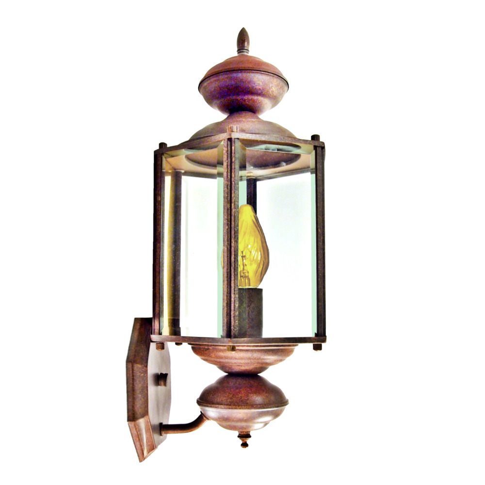 "Brass Outdoor Garage Lights: Exterior Porch Light 16"" Outdoor Brass Wall Lantern Fired"