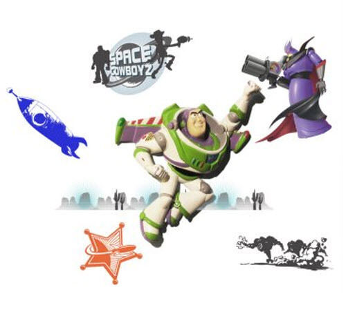 wallables disney toy story buzz lightyear 3d wall decor toy story buzz lightyear and friends wall sticker