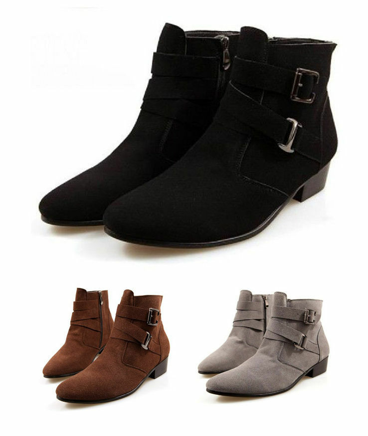 sale s casual suede buckle zip pointed toe high