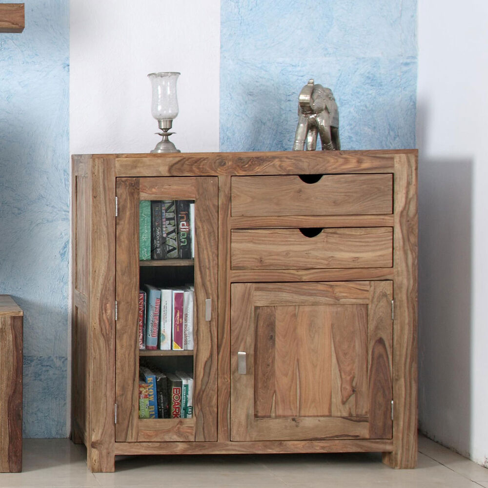 kommode yoga 6597 k schrank sheesham natur massivholz von wolf m bel ebay. Black Bedroom Furniture Sets. Home Design Ideas
