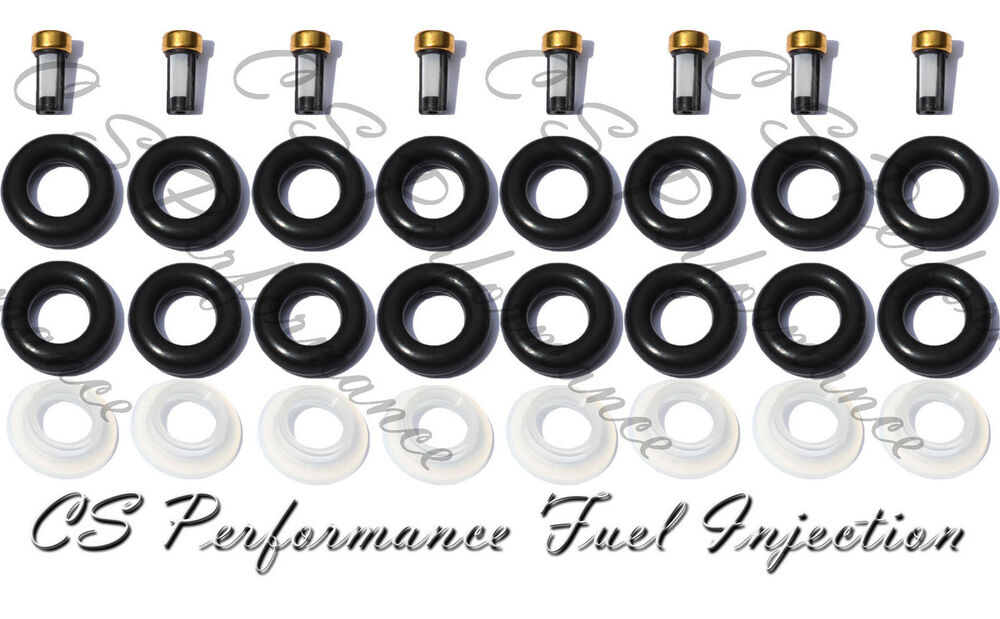 v8 ford 5 0 fuel injector repair rebuild service kit orings filters caps cskbo38