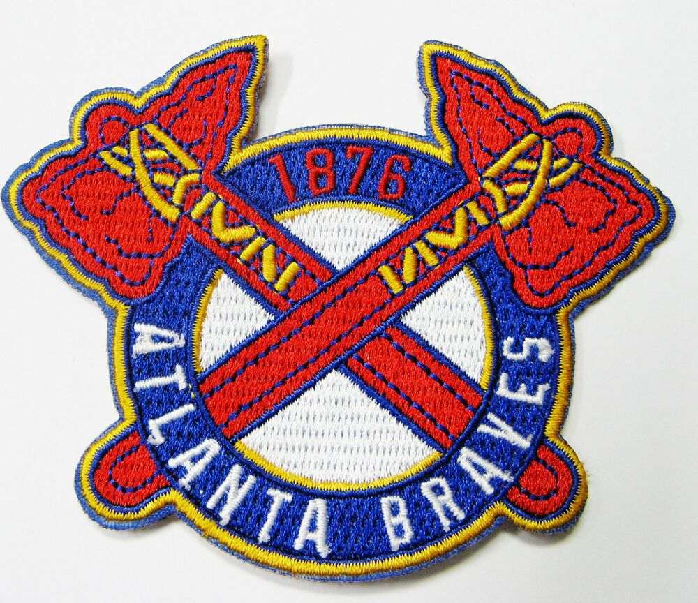 Lot of mlb baseball atlanta braves embroidered patch