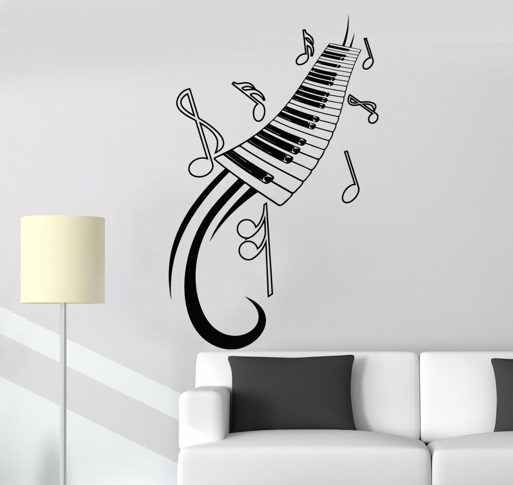 Vinyl Wall Decal Piano Sheet Music Musical Instrument Room Art Stickers Ig1282 Ebay