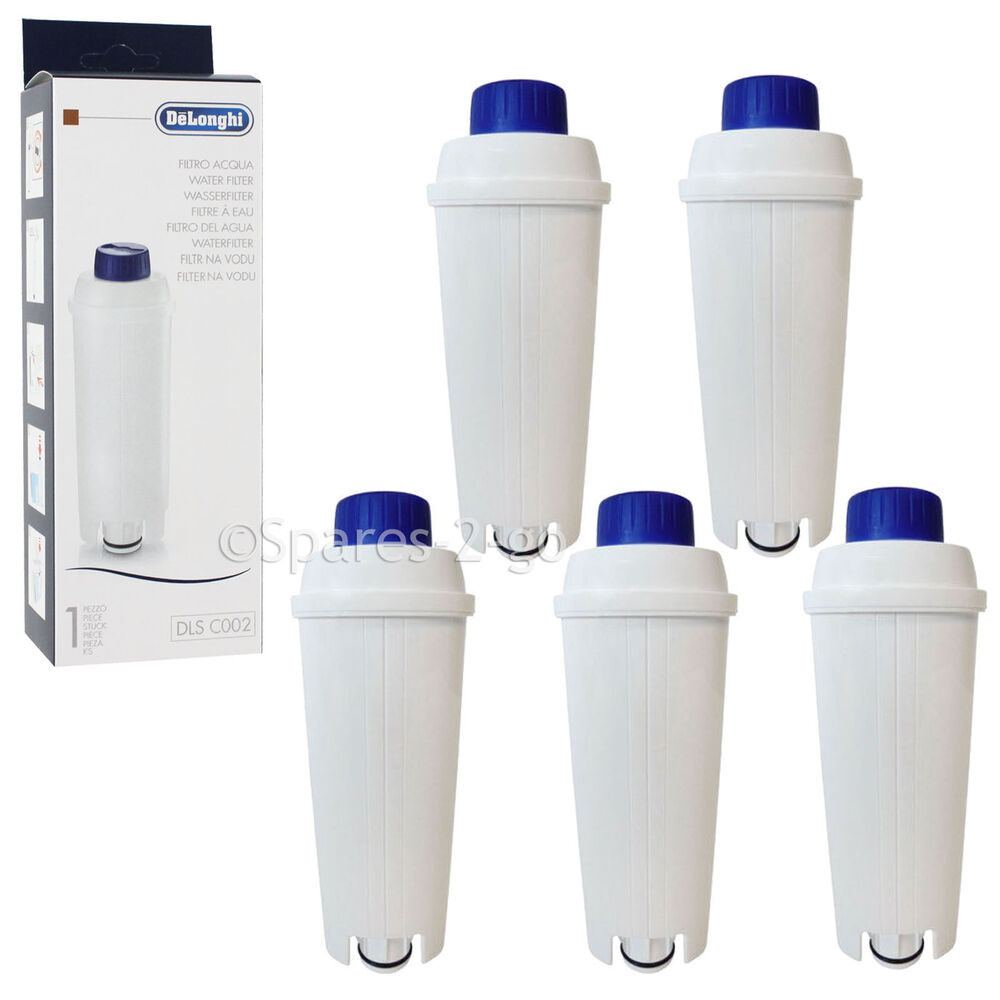 5xDELONGHI Espresso & Bean To Cup Coffee Maker Machine Water Filter Cartridges eBay