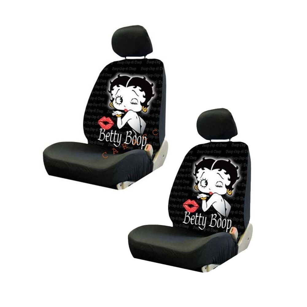 brand new set of 2 betty boop timeless front low back car seat covers ebay. Black Bedroom Furniture Sets. Home Design Ideas