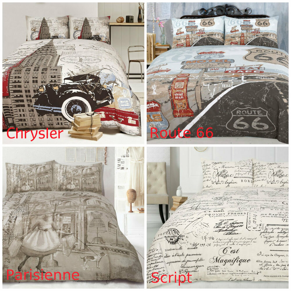 Ardor Retro Doona Duvet Quilt Cover Set Single Double