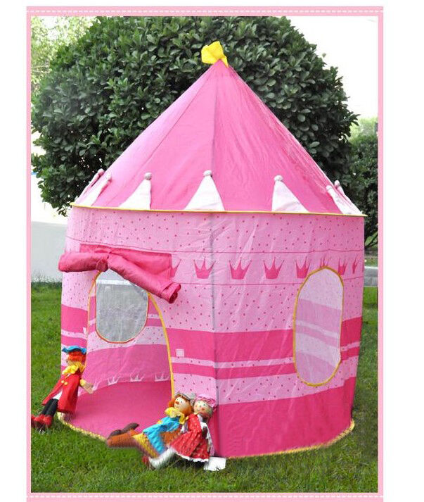 folding portable outdoor kids children princess palace castle play tent fun toy ebay. Black Bedroom Furniture Sets. Home Design Ideas