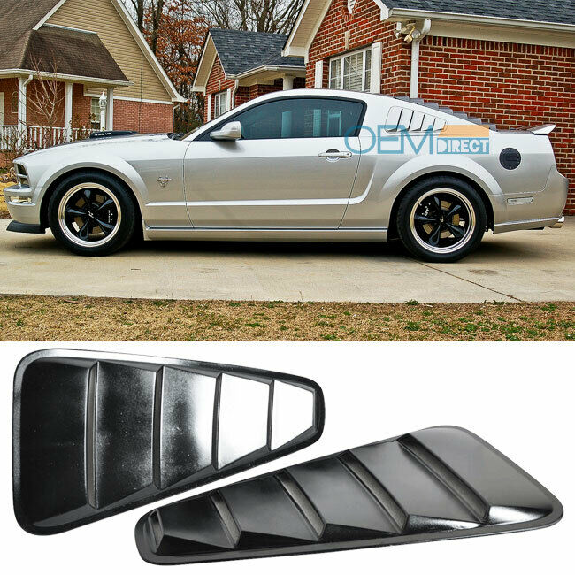 05 09 ford mustang coupe 2dr abs black window louver for 05 mustang rear window louvers