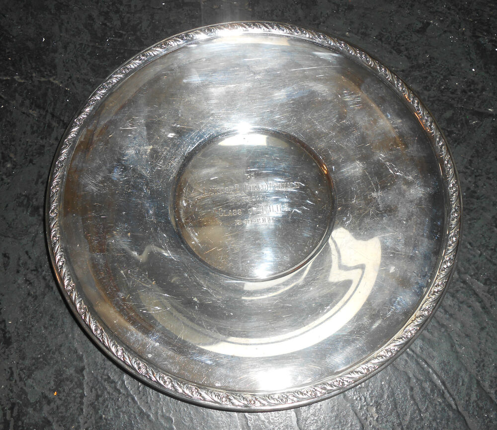 Old Wallace Silver Plated School Coach Award Plate Ebay