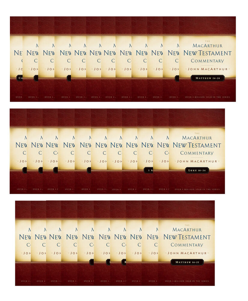 Complete john macarthur 33 volume new testament commentary set complete john macarthur 33 volume new testament commentary set mcarthur nt new 9780802413475 ebay fandeluxe Choice Image