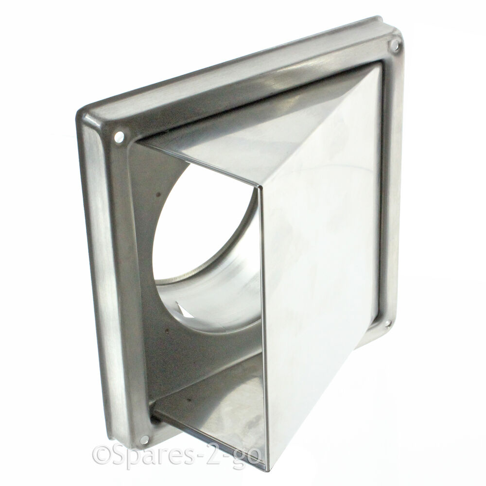 Kitchen Air Vent: Stainless Steel Wall Air Vent Kitchen Cowled Extractor