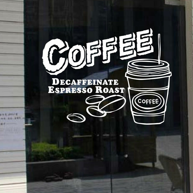 Cake Coffee Shop Window Sign Removable Wall Stickers Vinyl