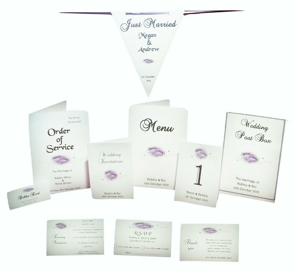 Personalised Wedding invitations and Wedding Stationery Double Heart ...