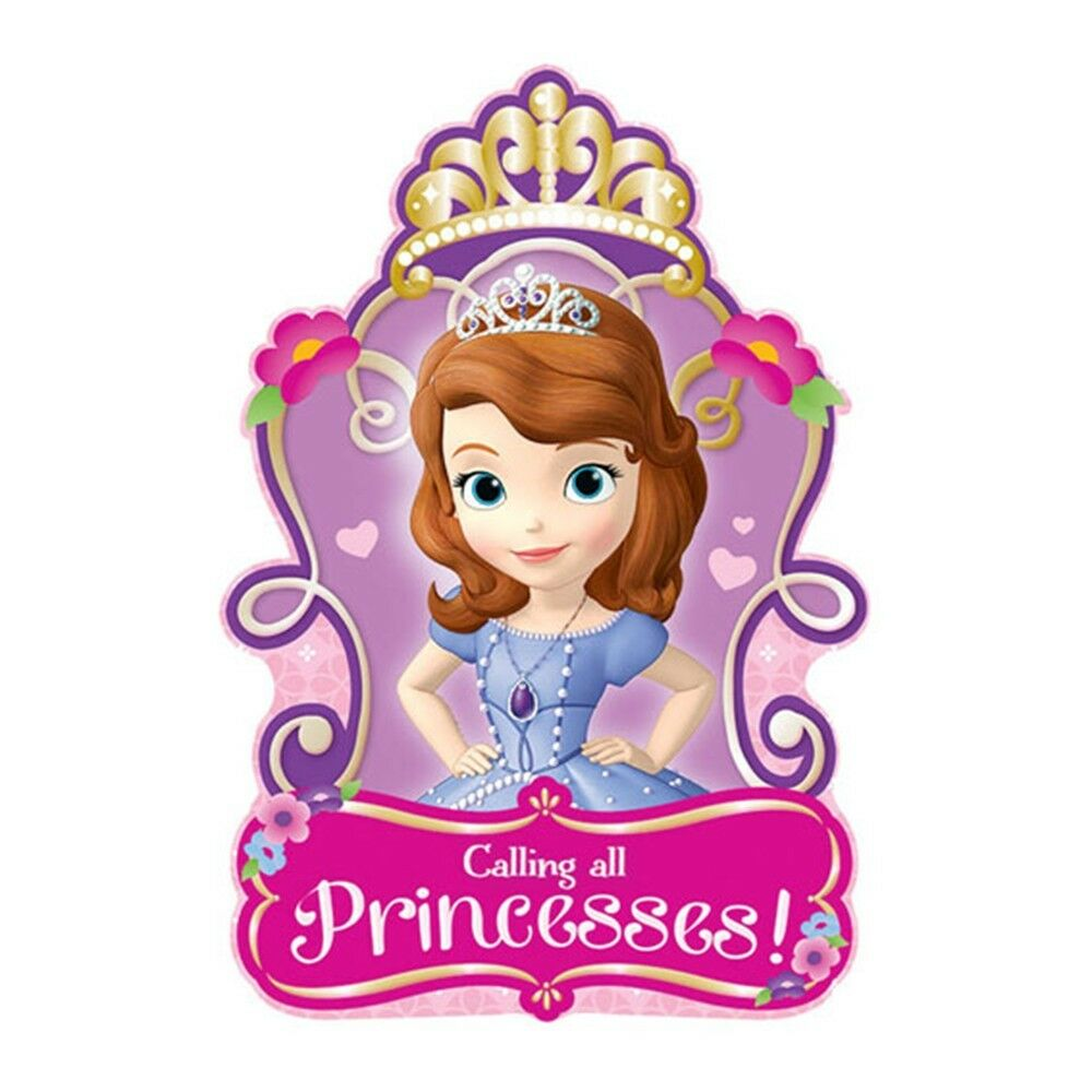 8 Sofia The First Princess Birthday Party Invitations ...