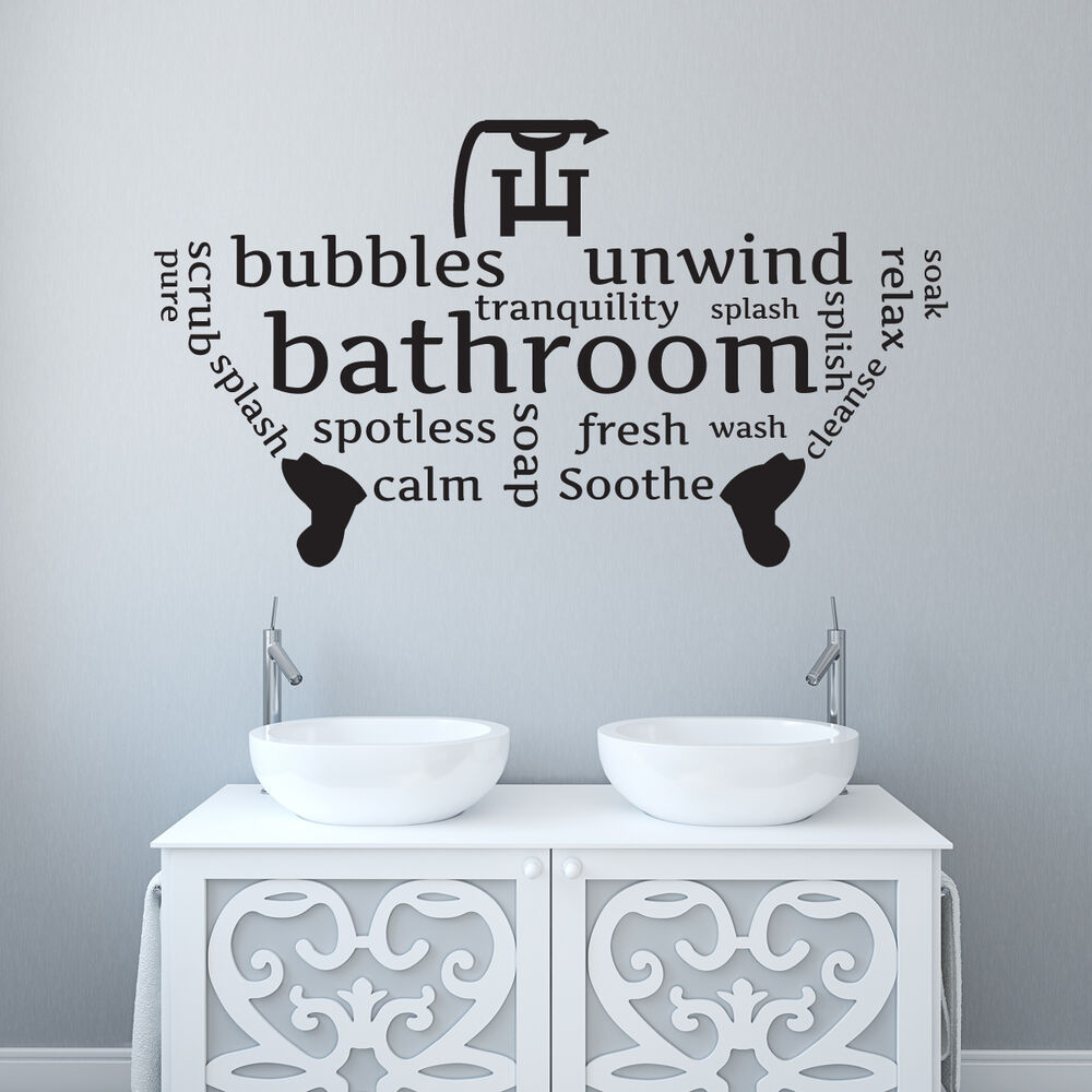 Bathroom/Toilet Wall Sticker Word Cloud/word Montage