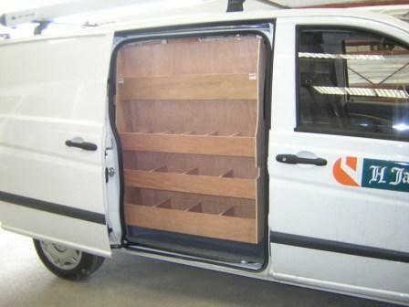 Mercedes Vito Side Door Ply Van Racking Shelving Storage