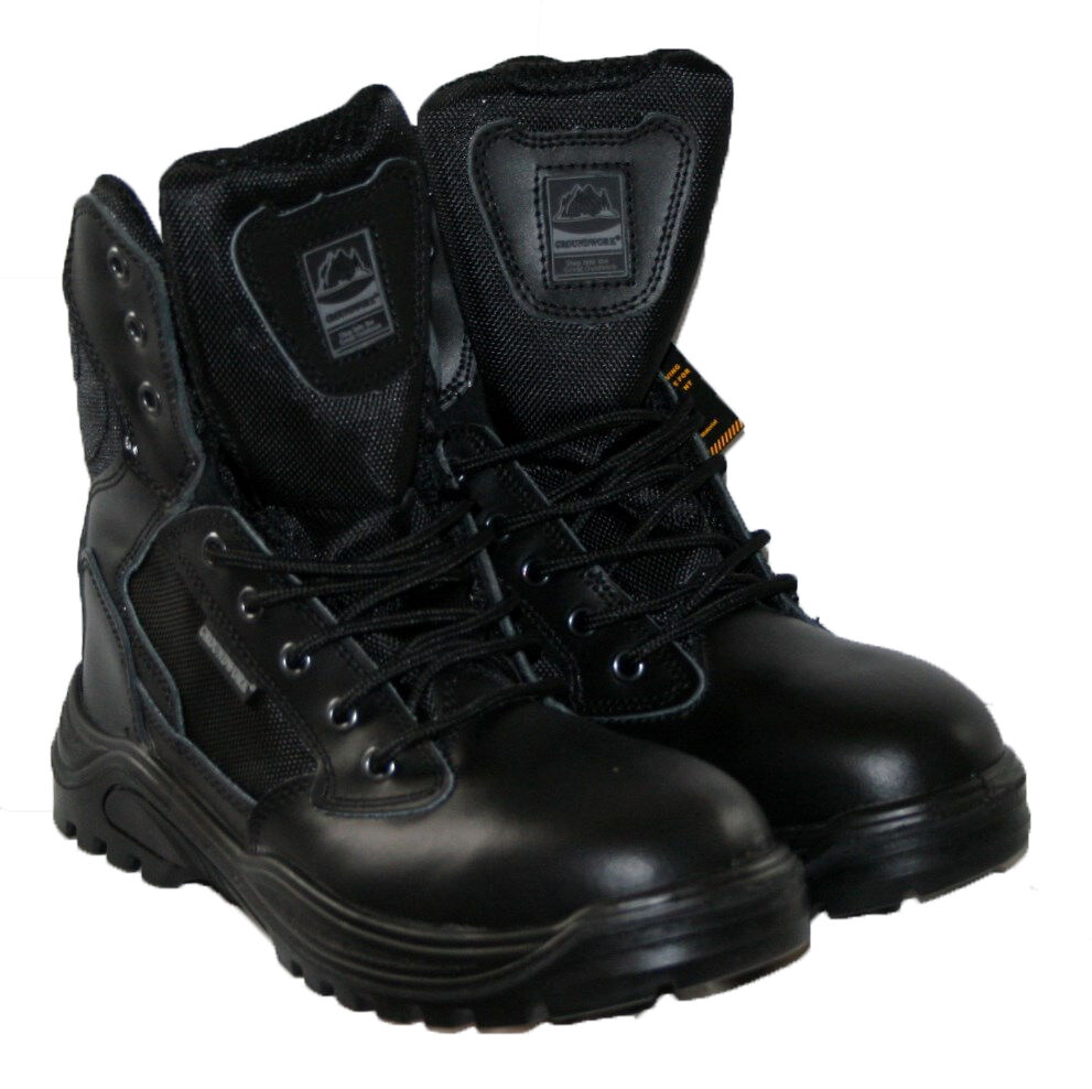 Mens Steel Toe Caps Mens Work Boots Police Army Safety