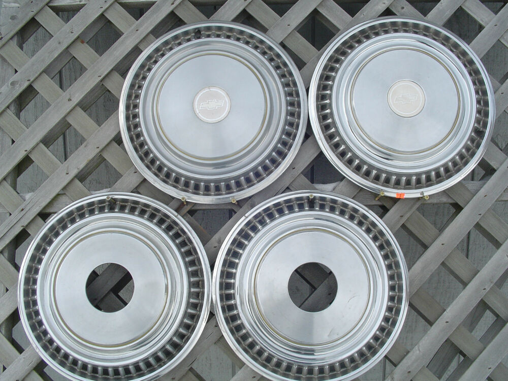 15 Inch Tires >> CHEVROLET CHEVY PICKUP TRUCK 4+4 HUBCAPS WHEEL COVERS VINTAGE WHEELS CENTER CAPS   eBay