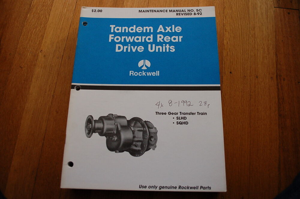 Rockwell Differential Sqhd Service Manual