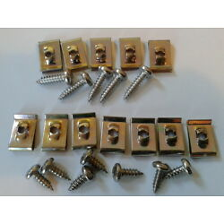 SUNBEAM ALPINE GEARBOX TUNNEL STAINLESS STEEL SCREWS  AND CLIPS SET OF 24