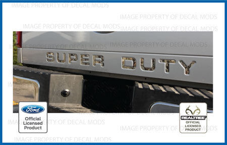 2008 2016 Super Duty Tailgate Letters Inserts Decals