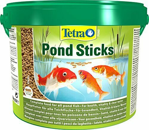 Tetrapond 1200g 1 2kg 10l bucket fish pond food sticks for Koi pond sticks