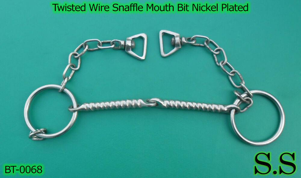 Twisted Wire Snaffle Mouth Bit Nickel Plated Pony Horse