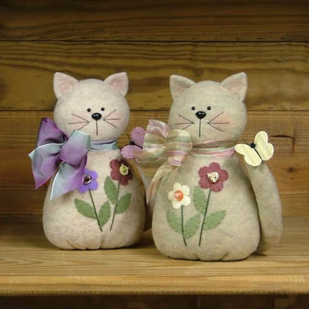 Primitive Crafts: Country Side Crafts *PATTERN* Here Kitty Kitty
