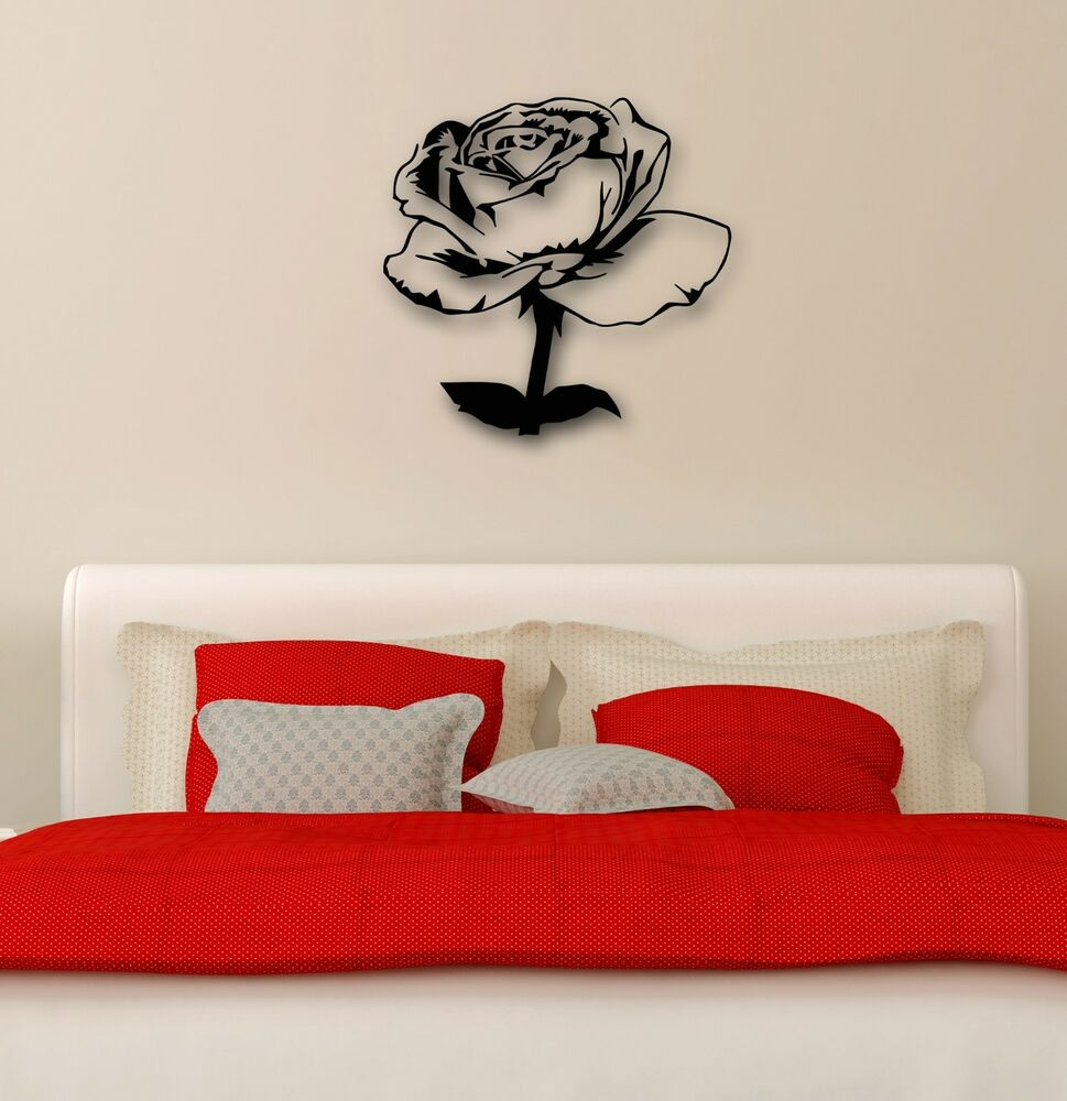 Wall Sticker Vinyl Decal Rose Flowers Plant Great Decor Bedrooms Ig1172 Ebay