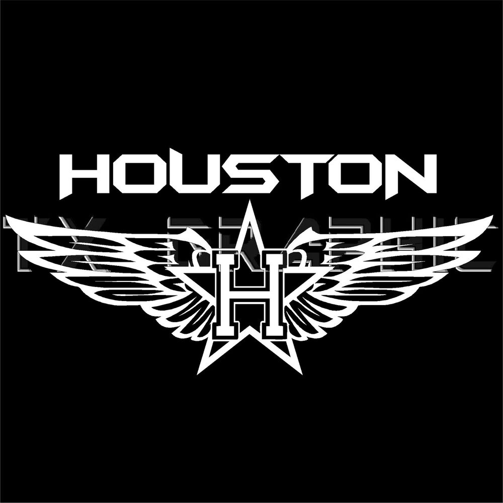 Houston Decal Vinyl Sticker Texas Texans Fly Wing H Town