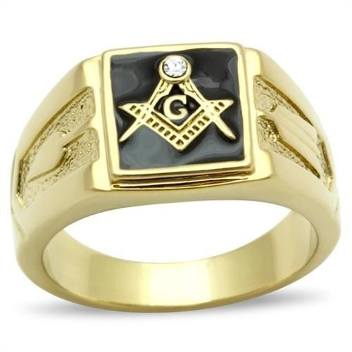 Stainless steel gold ip mason freemason master masonic for Do pawn shops buy stainless steel jewelry