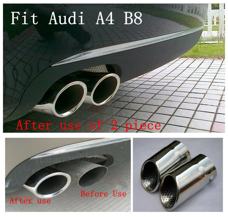 2010 Audi A4 Performance Upgrades: Stainless Steel Exhaust Muffler Tip For AUDI A4 B8 2.0