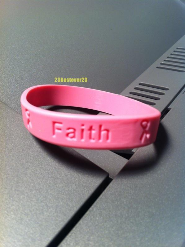 For pink breast cancer band bracelets that
