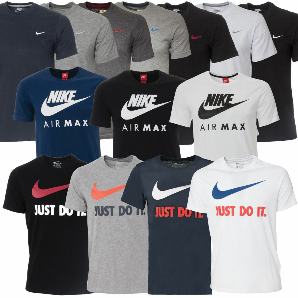 new mens nike t shirt top retro sizes s m l xl xxl tshirt t shirt 10 styles ebay. Black Bedroom Furniture Sets. Home Design Ideas