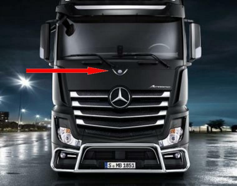 chromrahmen f r mb logo actros neu original mercedes. Black Bedroom Furniture Sets. Home Design Ideas