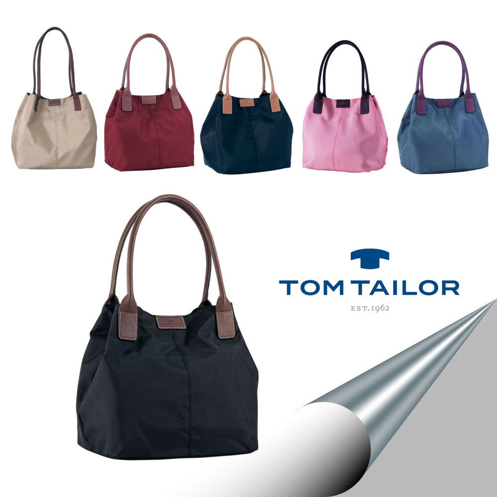 tom tailor bag tasche xl shopper schultertasche miri nylon gro 7 farben neu ebay. Black Bedroom Furniture Sets. Home Design Ideas