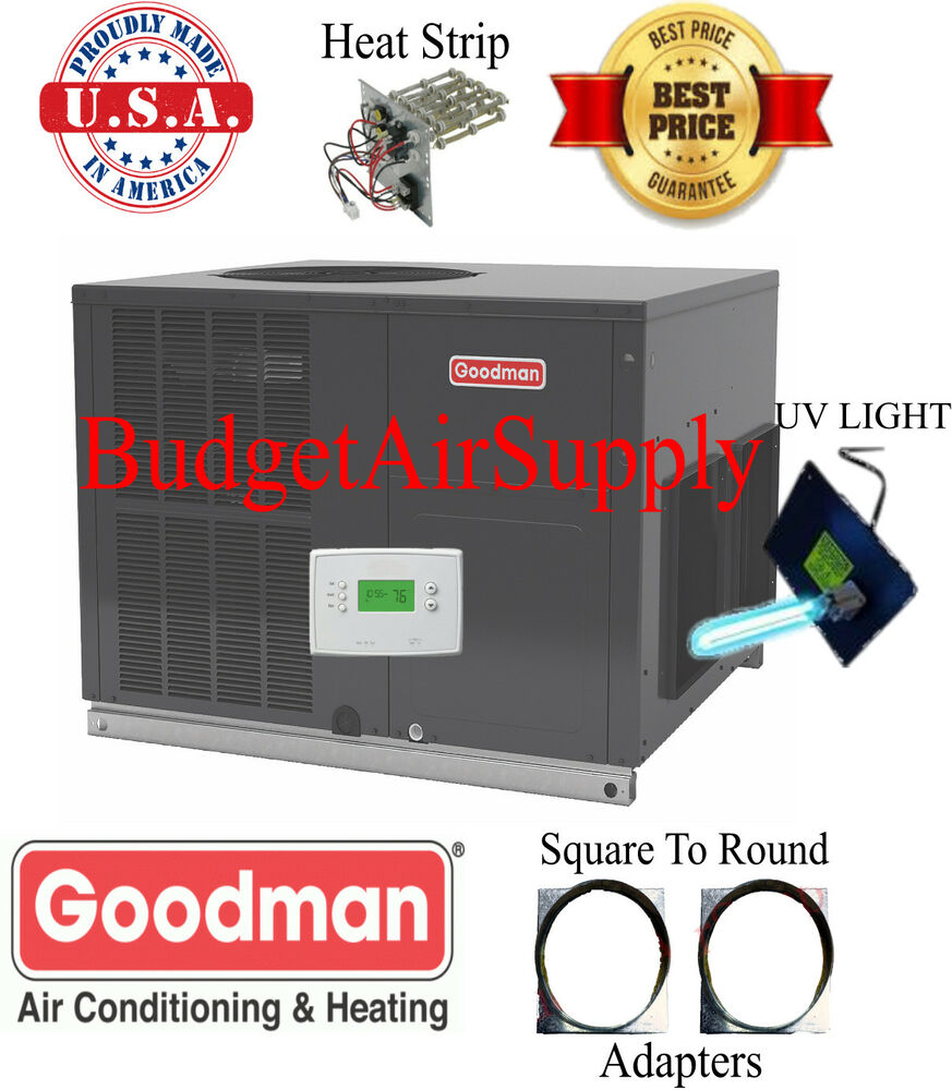 4 Ton 14 Seer Goodman Heat Pump Multiposition Package Unit