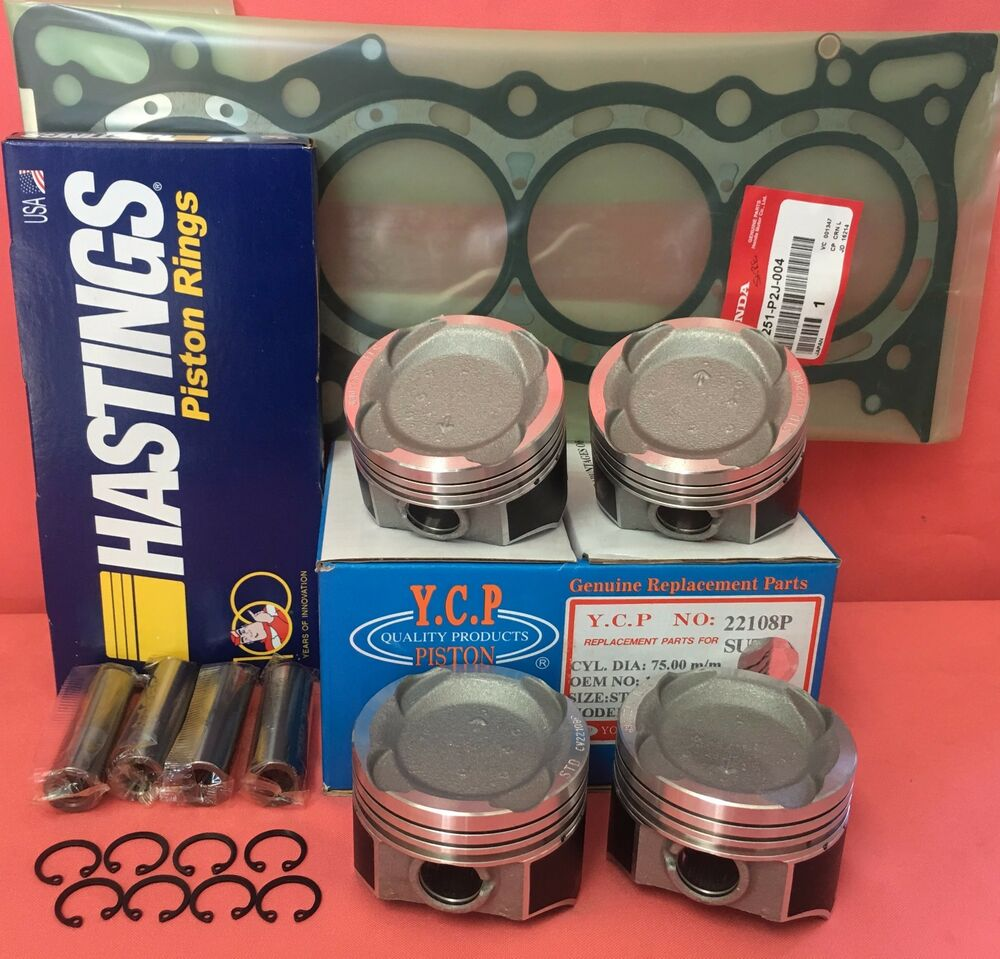 YCP 75mm Vitara Pistons Low Compression + Rings+Gasket