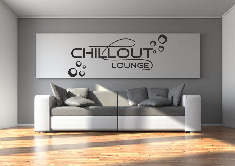 wandtattoo aufkleber chillout chill out lounge kreise wohnzimmer relax tx093 ebay. Black Bedroom Furniture Sets. Home Design Ideas
