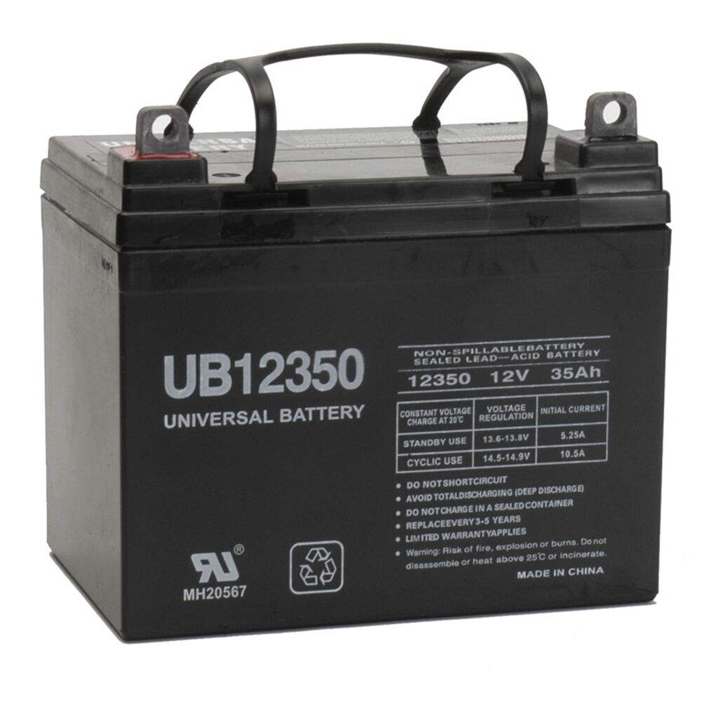 Kubota Tractor Batteries : Upg v ah battery for kubota case john deere dixie
