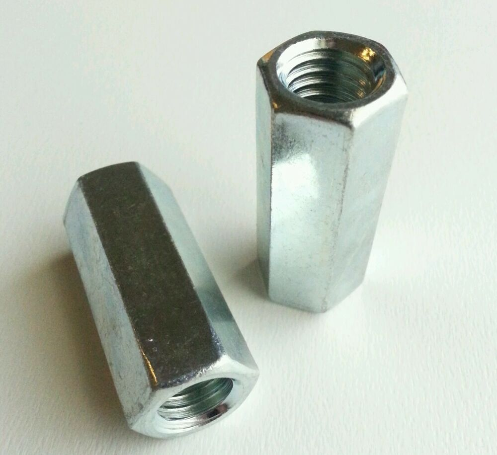 Threaded Bar Couplers : Pcs coupler threaded rod zinc plated