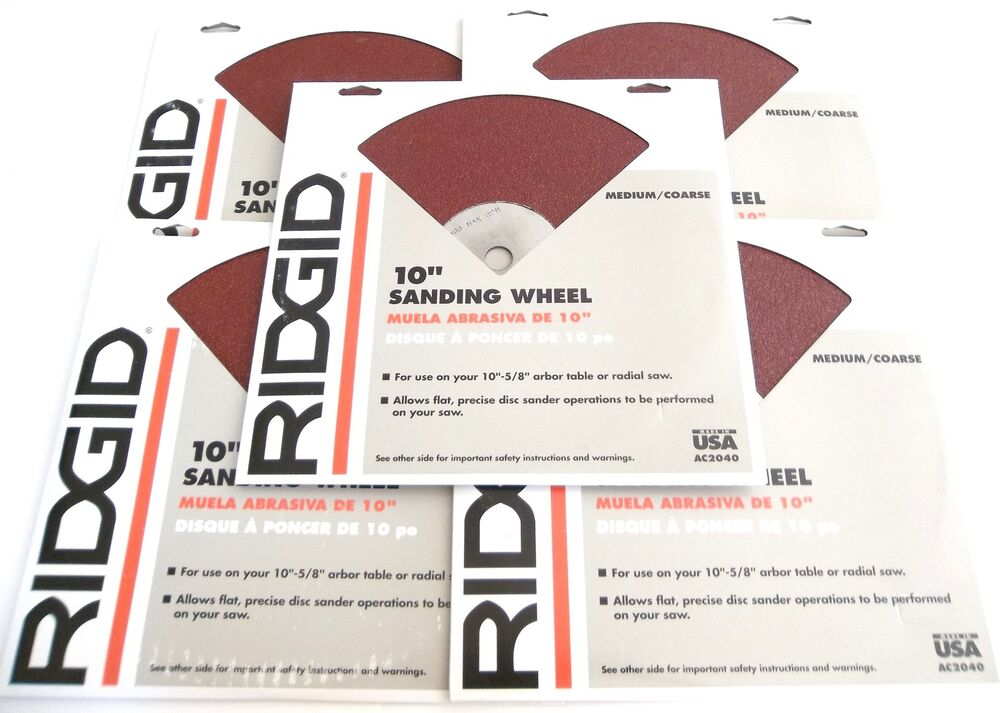 5 ridgid 10 sanding wheels ac2040 fits 10 table or for 10 sanding disc for table saw