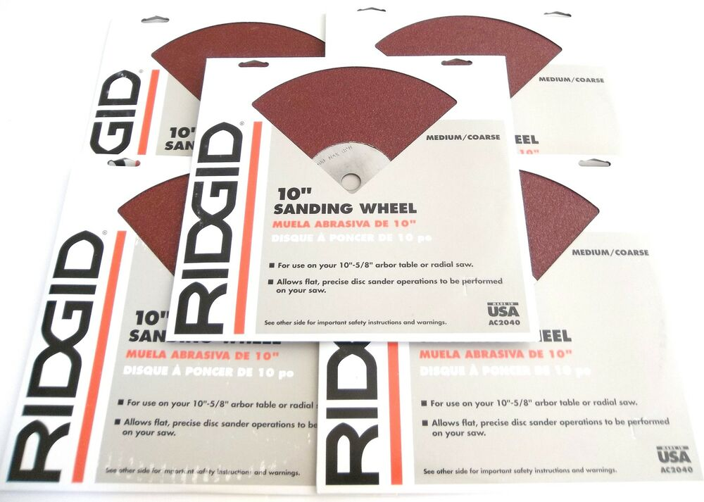 5 Ridgid 10 Quot Sanding Wheels Ac2040 Fits 10 Quot Table Or