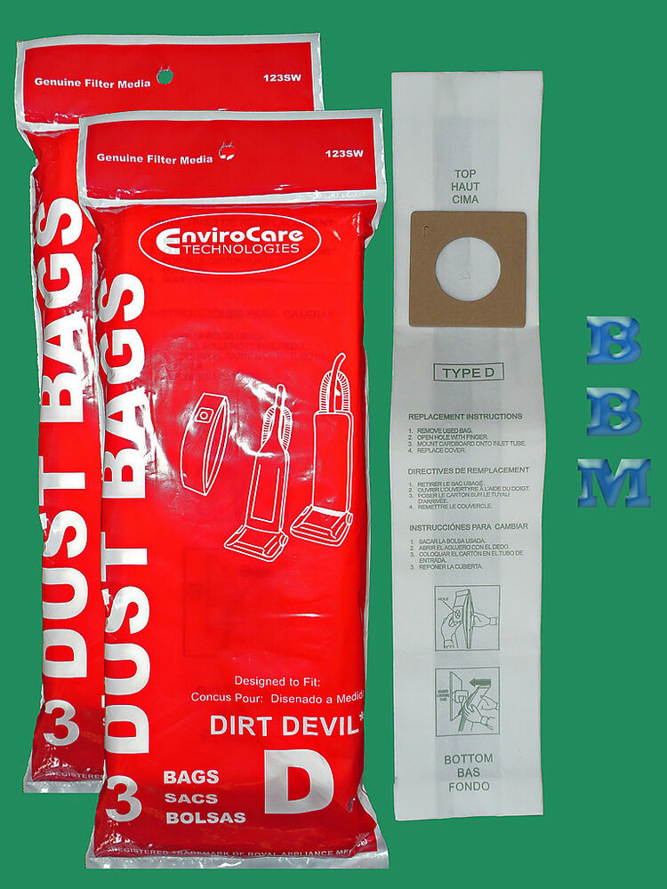 Details About 6 Royal Dirt Devil Type D 3670075001 3670147001 3 670148 001 Vacuum Cleaner Bag