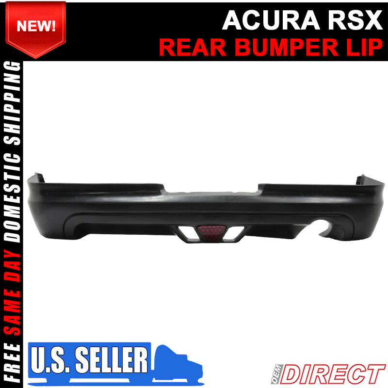 02-04 Acura RSX Coupe 2Dr Mugen Style Rear Lip With Led