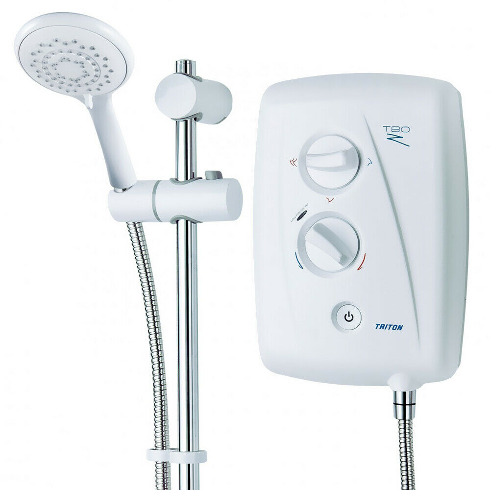 Triton T80z Fast Fit Electric Shower In White 7 5kw 8