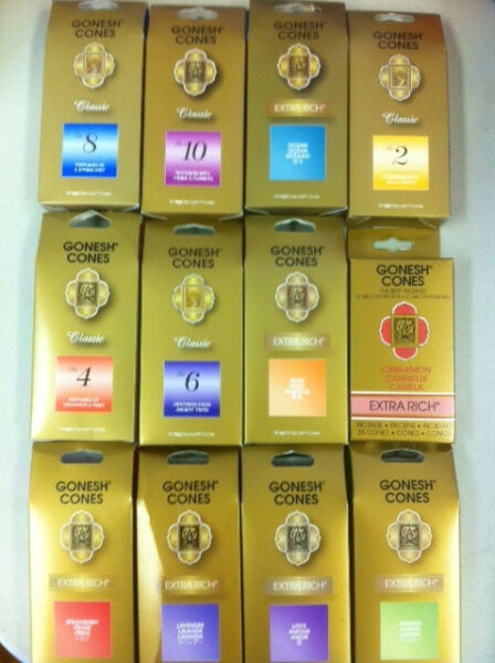 Gonesh Incense Cone Pack 25 Cones: Choose Scent BUY 4 GET 1 FREE (5 IN CART)